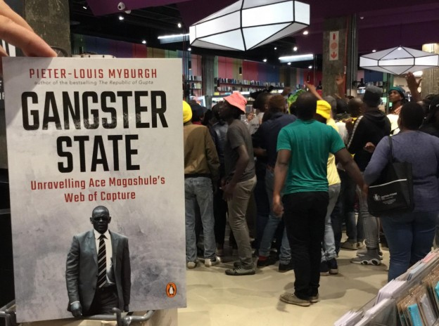 Pieter Louis Myburgh book launch in Sandton.
